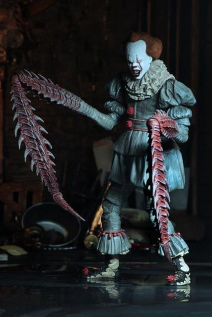 Avec LED Original NECA 4 têtes Stephen King cest ultime figurine daction Pennywise à collectionner pour enfants jouets cadeaux dhalloween