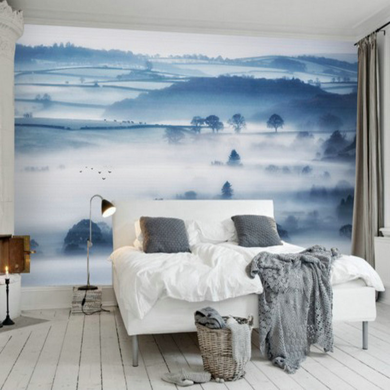Drop Shipping Photo Wallpaper 3D Stereo Modern New Chinese Ink Landscape TV Sofa  Bedroom Hotel Background Wallpaper Mural
