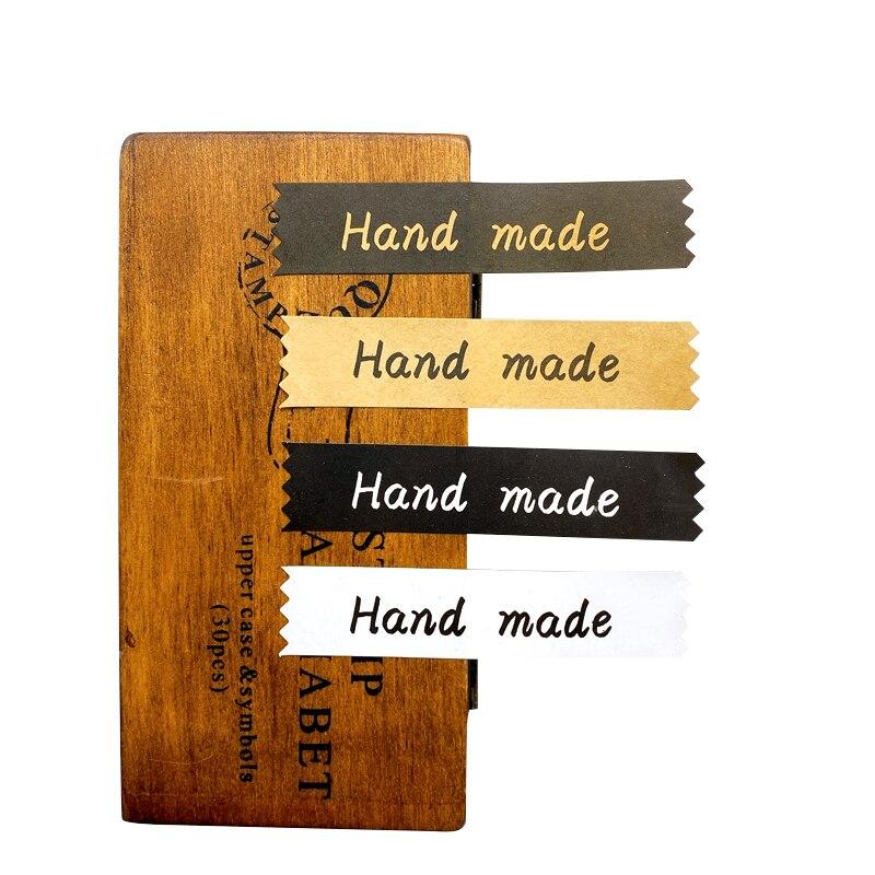 120 adet/paket dört seçenekleri dikdörtgen el yapımı pişirme ambalaj dekorasyon conta etiket