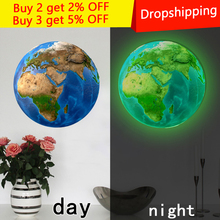 New 20cm 3D Wall Stickers for Kids Room Luminous Moon Star Earth living room decoration Glow In The Dark Stars home decor stars shine in the dark kids toy 1pcs luminous peacock decoration open light toys flash led lights glow in the dark kids toys e