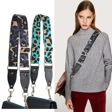 S.IKRR Nylon Bag Strap Parts Leopard Leather Adjustable Accessories Shoulder Straps Luxury Replacement Wide Strap Crossbody Bag