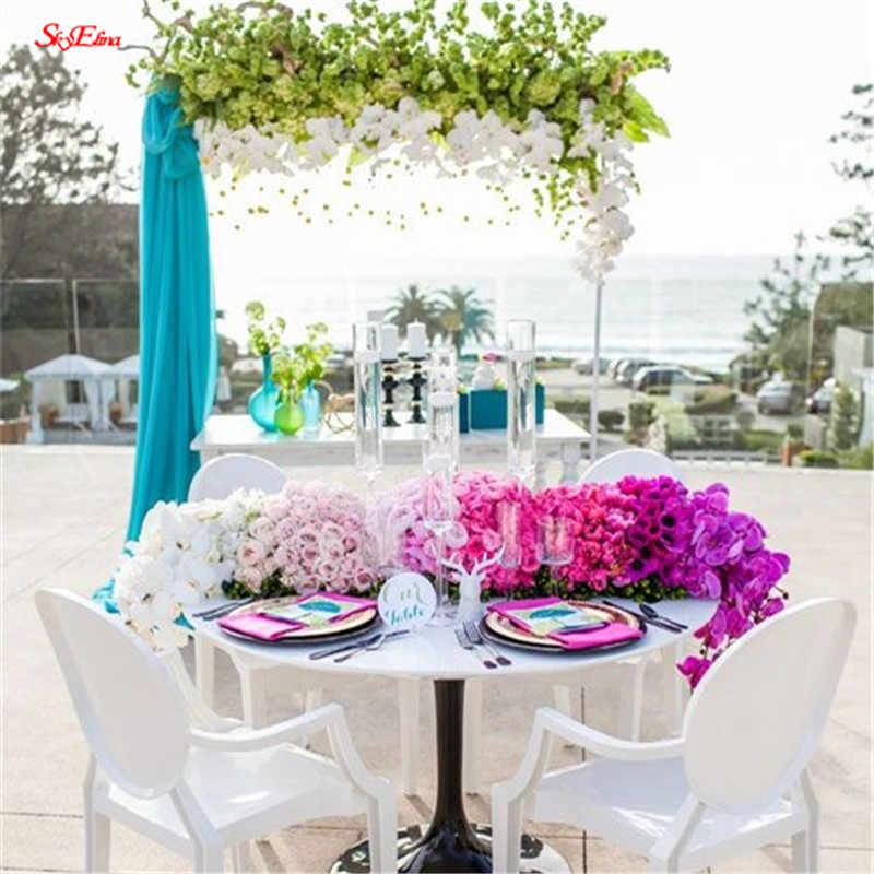 5/10 מטר טול רול Sheer קריסטל אורגנזה בד לחתונה קישוט שולחן DIY כיסא Sashes המפלגה לטובת עיצוב הבית 5z