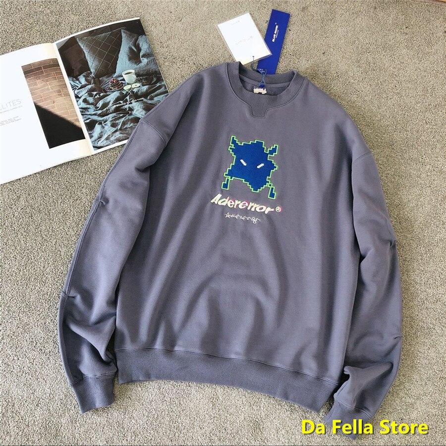 Oversize 2020 Grey Adererror Vader sweatshirts Z-Stitch Logo Adererror Hoodies Men Women Alien invasion Style Ader error Hoodie