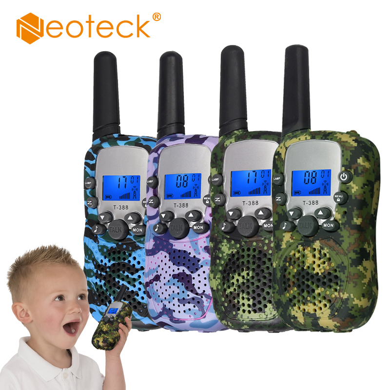 Neoteck  Kids Walkie Talkie Children Walky Talky 8 Channel Rechargeable 2 Way Radio For Boys Girls 3 KM Range Built In LED Torch
