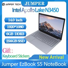 2021 tablet Windows 10 home Jumper EZbook S5 Laptop ultrabook portatile 14.0 pollici 8GB Ram 256GB SSD 1920*1080 4600mAh notebook
