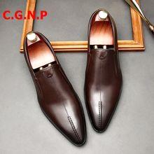 Cgnp из натуральной кожи Мужская обувь; Ручная работа; Кожаные