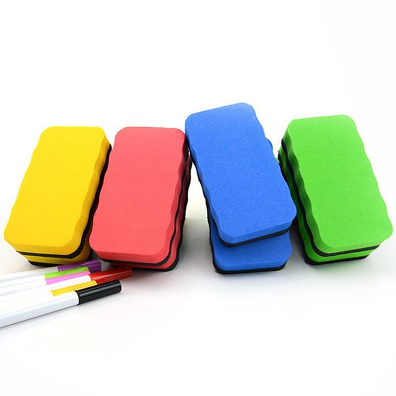 1 PCS Random Colored Magnetic Whiteboard Eraser Kawaii Erasable Blackboard Cleaner Cute Sponge White Board Marker Chalk Erasers