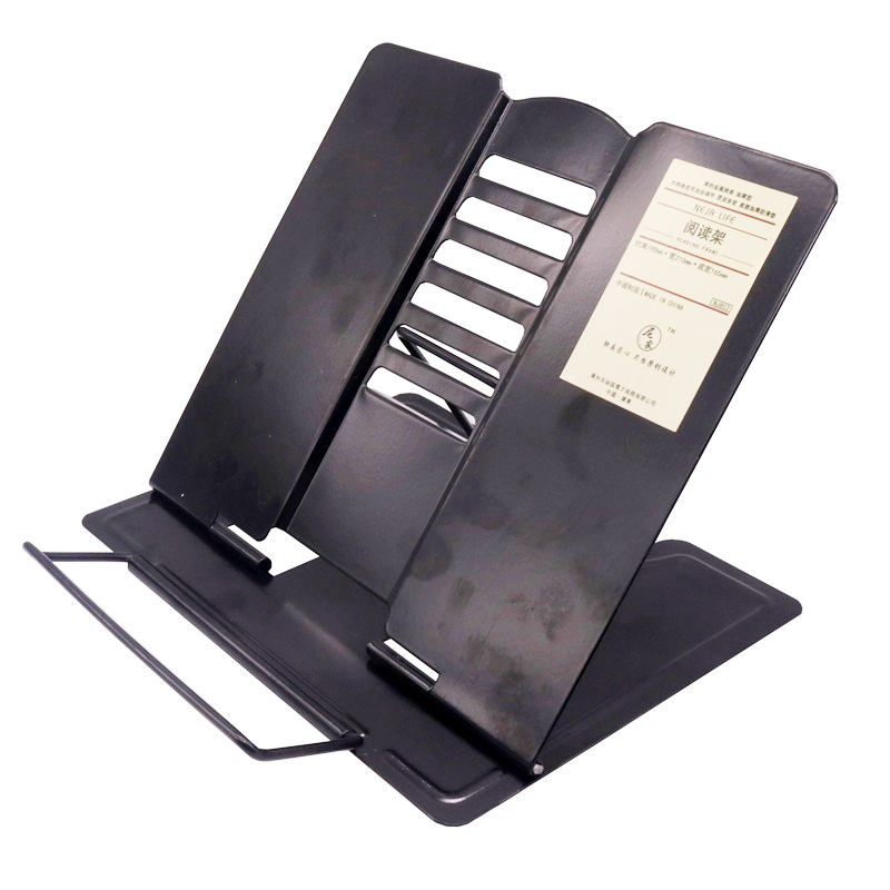 1pcs Portable Bookend Stand Reading Book Stand Books Recipe Shelf Folding Holder Organizer Student Stationery Teaching Equipment