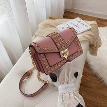 new Luxury Handbags Women Bags Designer Shoulder Vintage rivet Chain Evening Clutch Bag Messenger Crossbody For bags