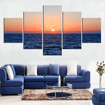 5 Pieces Panel Modern Canvas water Painting Wall Art The Picture For Home Decoration print Giclee Artwork For Wall Decor