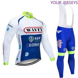 Зимняя команда 2020 WANTY термальный флис Велоспорт Джерси велосипед брюки набор Мужские 9D колодки Ropa Ciclismo Одежда для велоспорта Maillot Culotte набор