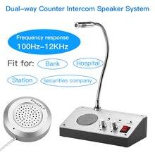 Dupla maneira falar através da loja janela de escritório vidro contador interfone sistema de alto falante janela microfone interfone alto falante