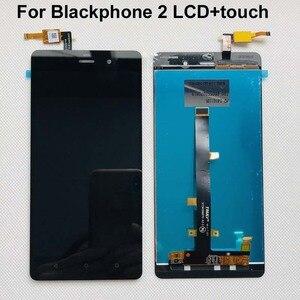 Image 1 - Оригинальный 100% протестированный рабочий Оригинальный черный для Blackphone 2 ЖК дисплей с кодирующий преобразователь сенсорного экрана в сборе + Инструменты + двойная лента