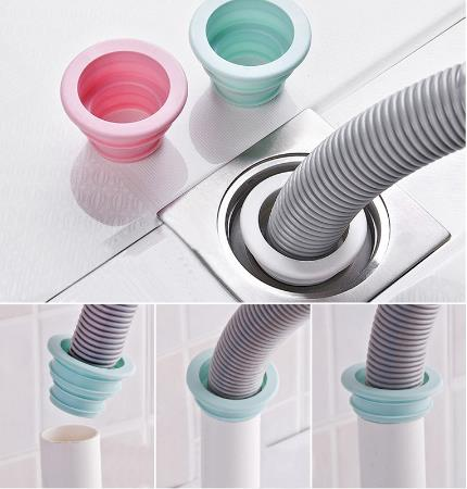 Random Color Sewer Pipe Pest Control Anti-odor Deodorant Silicone Gel Seal Ring Washing Machine Pool Floor Drain Sealing Plug