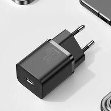 Baseus супер Si USB C зарядное устройство 20W, поддержка SMS, телефонный звонок, электронная почта, Type-C для быстрой зарядки батареи для мобильных теле...