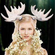 На Рождество и Хеллоуин; Оленей повязка на голову Съемная в виде оленьих рогов и забавные Косплэй и сердечком и повязка на голову, карнавал в...