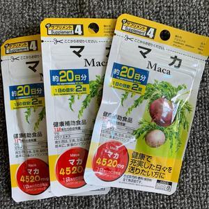 Добавка Maca DAISO 40 таблеток 20 дней * 3 pacs из Японии, экстракт F/S Guarana