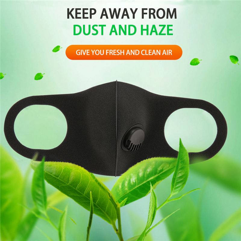 5Pcs FFP3 Respirator Face Dust Mask Breathing Filter Valve Prevent Protective Folding Mask Respirator Reusable Mask Washable