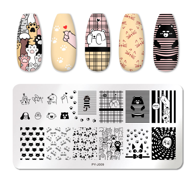 PICT YOU 12*6cm Nail Art Templates Stamping Plate Design Flower Animal Glass Temperature Lace Stamp Templates Plates Image 50
