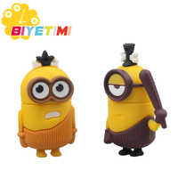 Biyetimi USB Flash Drive High Speed Cartoon Minions 8G 16 32 64 128GB Memory Stick 2.0 Pen Drive Suitable for PC Despicable Me