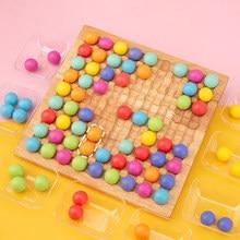 Crianças brinquedos educativos montessori cor triagem brinquedos de madeira mãos cérebro formação clipe contas jogo de brinquedo matemática para o presente das crianças