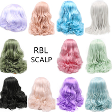 RBL Blyth دمية فروة الرأس Solft خصلات الشعر المستعار بما في ذلك سلسلة الإندوكونتش الصلبة. 55