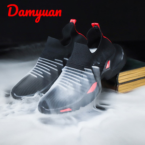 Scarpe da corsa degli uomini di estate nuovo permeabile all'aria con il volo di lavoro a maglia comfort aumentare scarpe da ginnastica scarpe da jogging all'aperto scarpe casual formato 46(China)