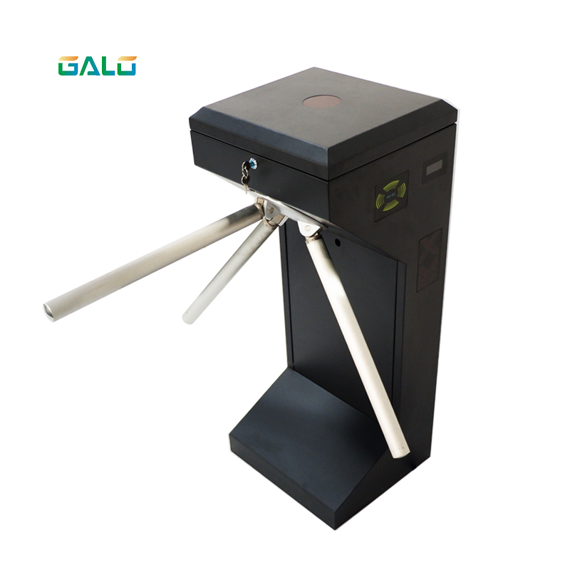 Both Directional RFID Card Reader Half Height Tripod Turnstile Hs Code For Access Control For Bus Parking System Gate Motor