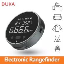 Duka régua eletrônica recarregável rangefinder 8 funções range finder portátil hd display lcd de tela longa espera governantes