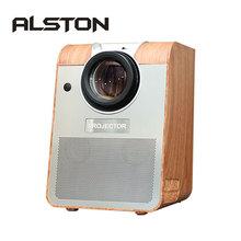 ALSTON BH908 projektor Led Full HD 6500 lumenów Bluetooth Android z wejściem HDMI USB 1080p przenośne kino projektor Beamer tanie tanio UNIC Auto Korekty CN (pochodzenie) Projektor cyfrowy 4 3 16 9 Focus 1920x1080 dpi Projektory kina Rzucanie Sufit Tylnej Projekcji