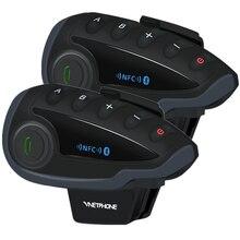 2 個 VNETPHONE V8 VS インターホン防水 5 双方向グループの Bluetooth オートバイヘルメットヘッドセット FM ラジオ、 Nfc 1.2 キロ 5 ライダー