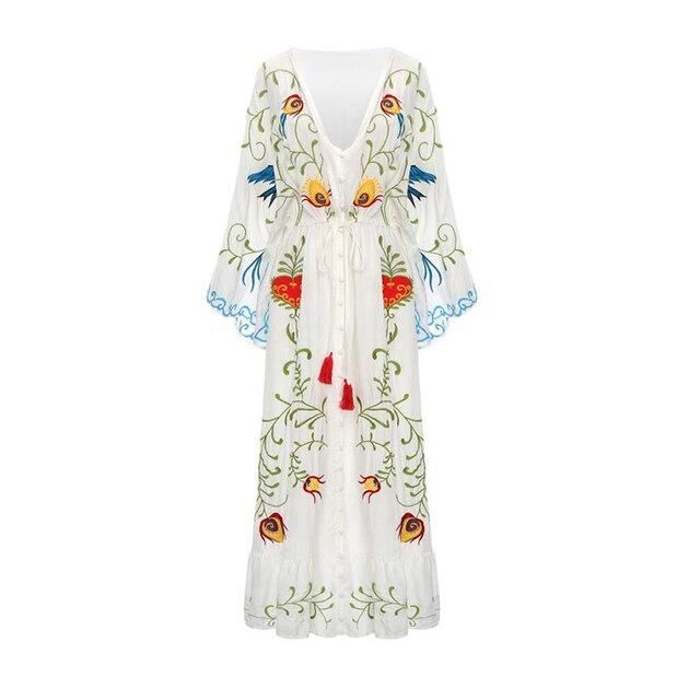 Фото летнее новое богемное туристическое курортное платье с свободным