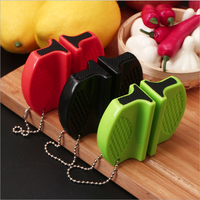 Portable Mini Kitchen Knife Sharpener Kitchen Tools Accessories Creative Butterfly Type Two-stage Camping Pocket  Sharpener