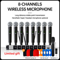 handheld microphone wireless systems UHF8 channel lapel condenser headset karaoke speaker studio for sale SM58D mic for singer