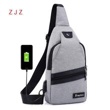 2019 Concise Leisure Time Usb Charger Charge Chest Package Messenger Wear-resisting Single Shoulder Bag Women Packet Fanny Pack
