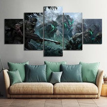 Wall Art 5 Piece Warrior Bungie Destiny 2 Video Game Poster Digital Hunter HD Modular Paintings for Home Decoration