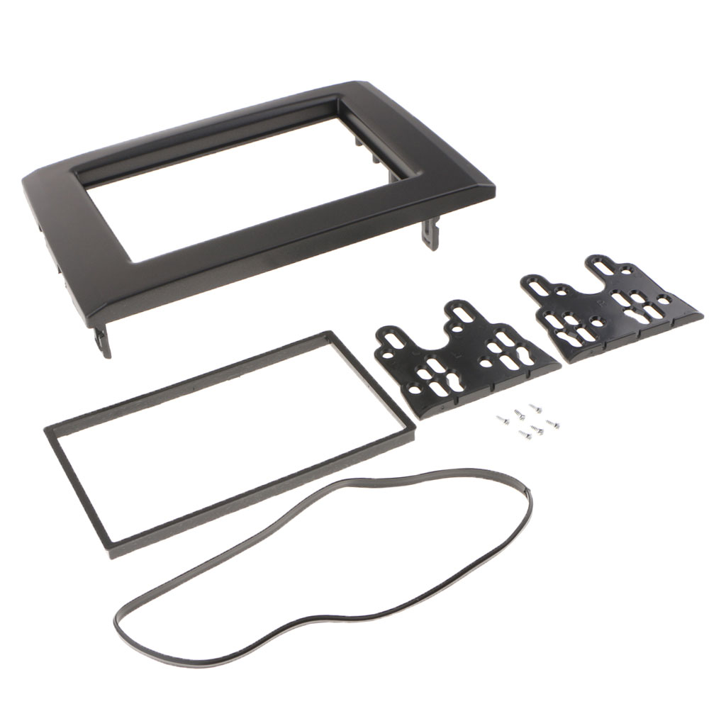 Double Din Fascia Stereo For VOLVO XC90 02-14 Dash Mount Trim Kit Frame
