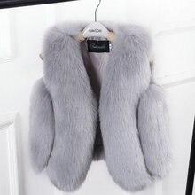 WEPBEL/модное пальто с мехом и длинными рукавами для маленьких девочек утепленная куртка для девочек милое теплое однотонное пальто осень-зима детская верхняя одежда