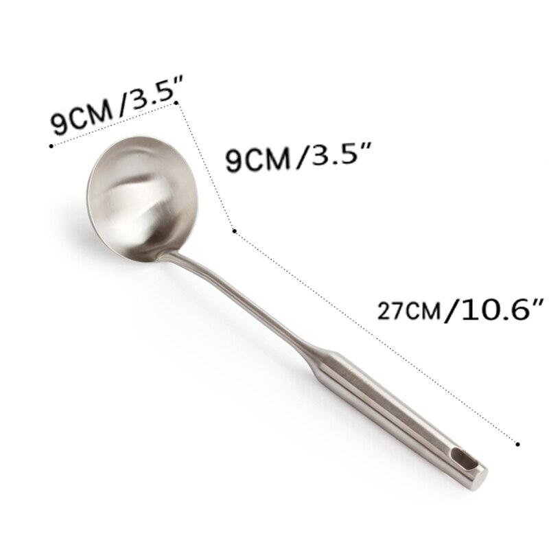 6pcs High Grade Stainless Steel Cookware set Kitchen Shovel Soup Spoon Leak Spatula Cooking Tools Kitchen Utensils Kitchenware - 6