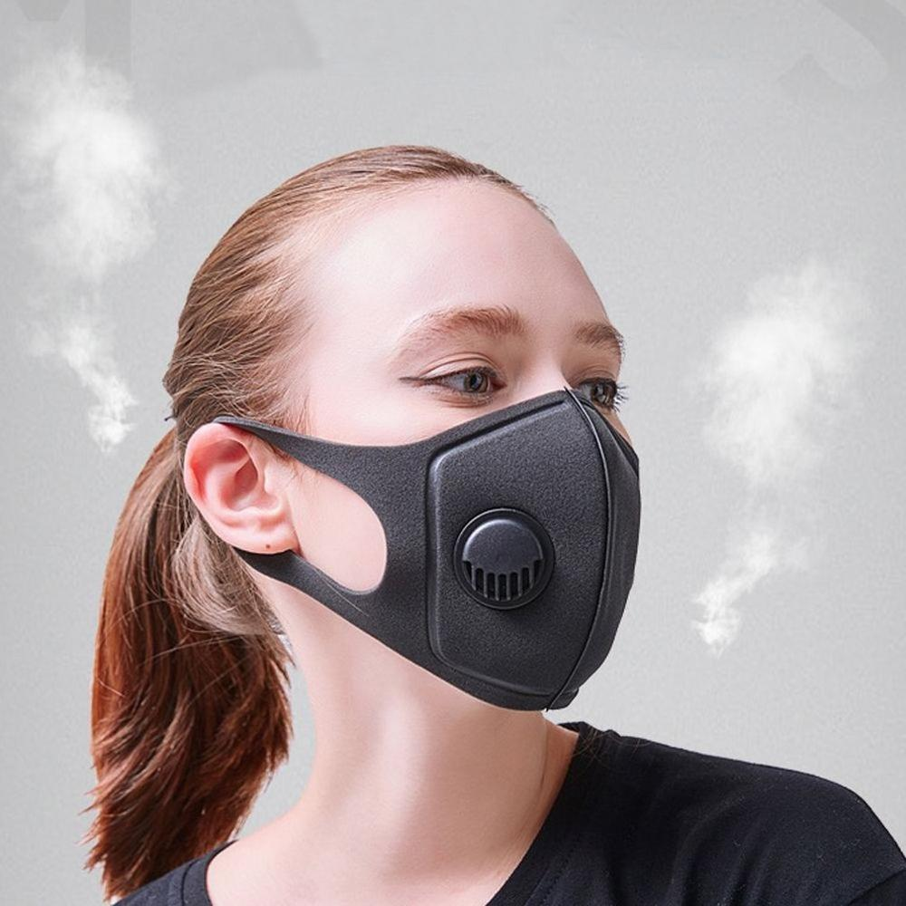 2/5/10pcs Washable Dust-proof And Haze-proof PM2.5 Breathing Valve Mask, Sponge Three-dimensional Mask