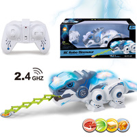 Electric 2.4G wireless remote control pet chameleon with light and sound effect parent child interactive puzzle toy