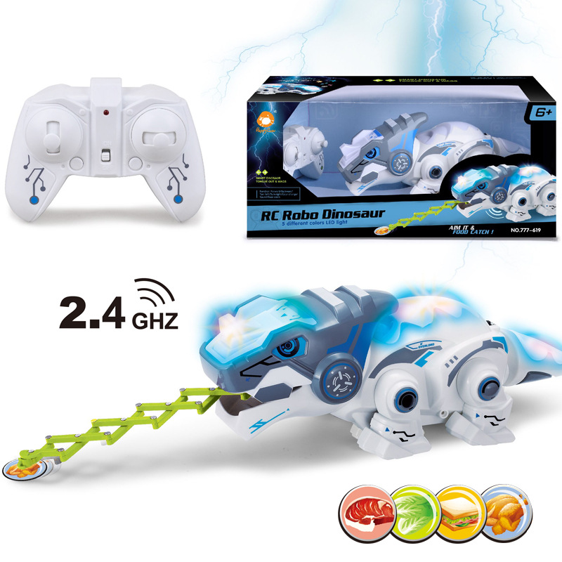 Electric 2.4G Wireless Remote Control Pet Chameleon With Light And Sound Effect Parent-child Interactive Puzzle Toy