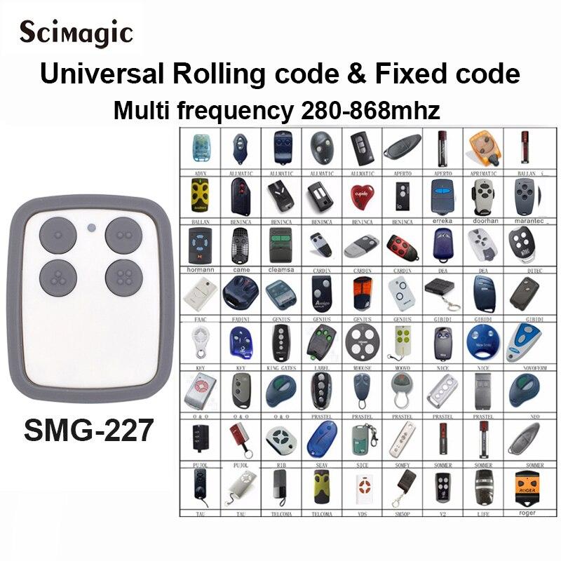2020 Multi Frequency 280-868mhz COPY BENINCA DITEC DOORHAN Hormann SOMMER Garage Door Remote Control Gate Control