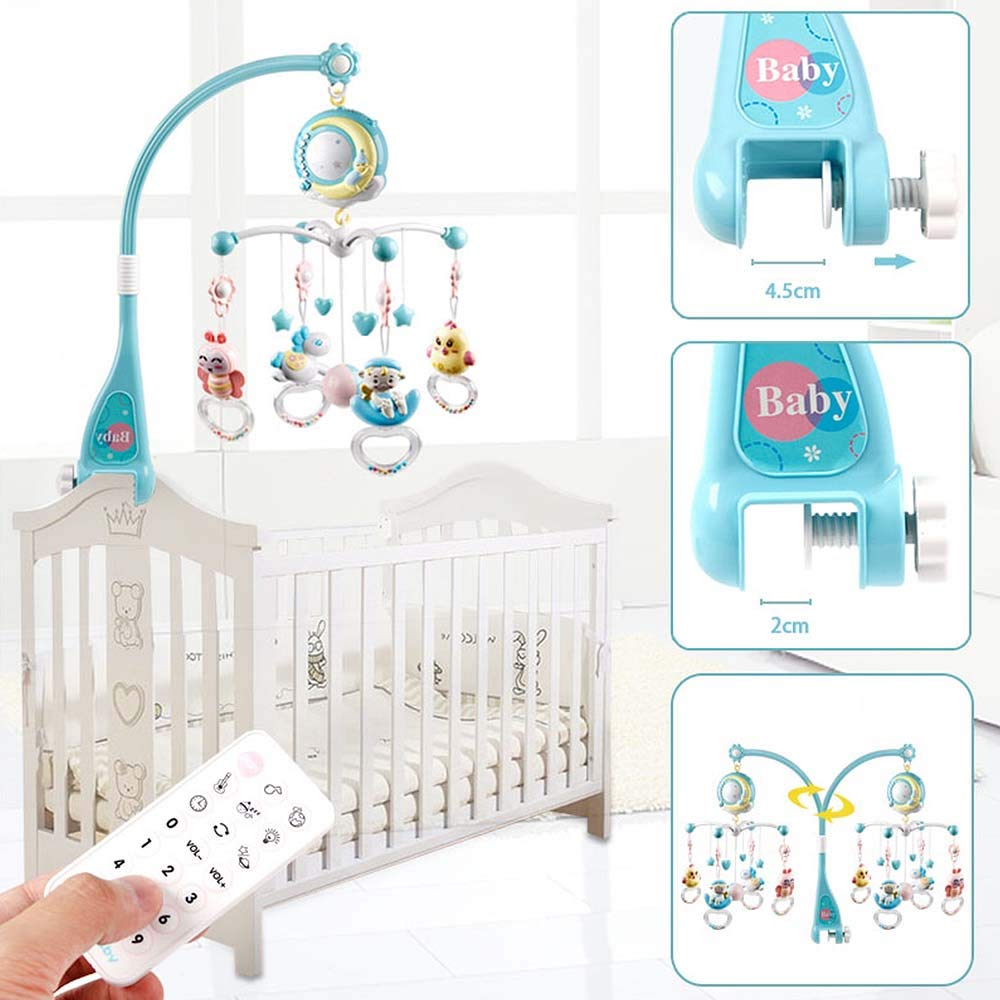 Baby Crib Toys Bell-Projector Rattle-Decoration-Toy Cradle Mobile Musical Newborn-Babies