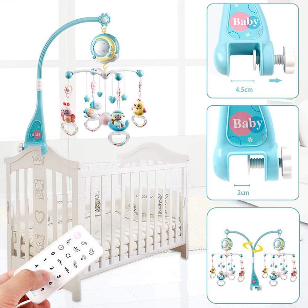 Controle remoto móvel musical bebê berço brinquedos luz sino chocalho decoração brinquedo para berço berço bell projetor para bebês recém-nascidos
