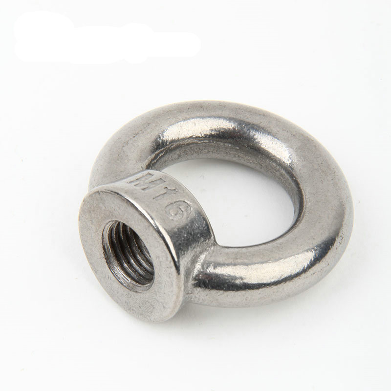2PCS M6 M8 M10 M12 M14 M16 304 Stainless Steel Marine Lifting Eye Nut Ring Nut Thread Eyebolt For Cable Rope Lifting
