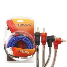 Samochodowy przewód Audio samochodowy stereofoniczny kabel Audio wzmacniacz pleciony narzędzie zestaw okablowania sygnału Audio elektronika samochodowa tanie tanio LumiParty Przewód sygnałowy