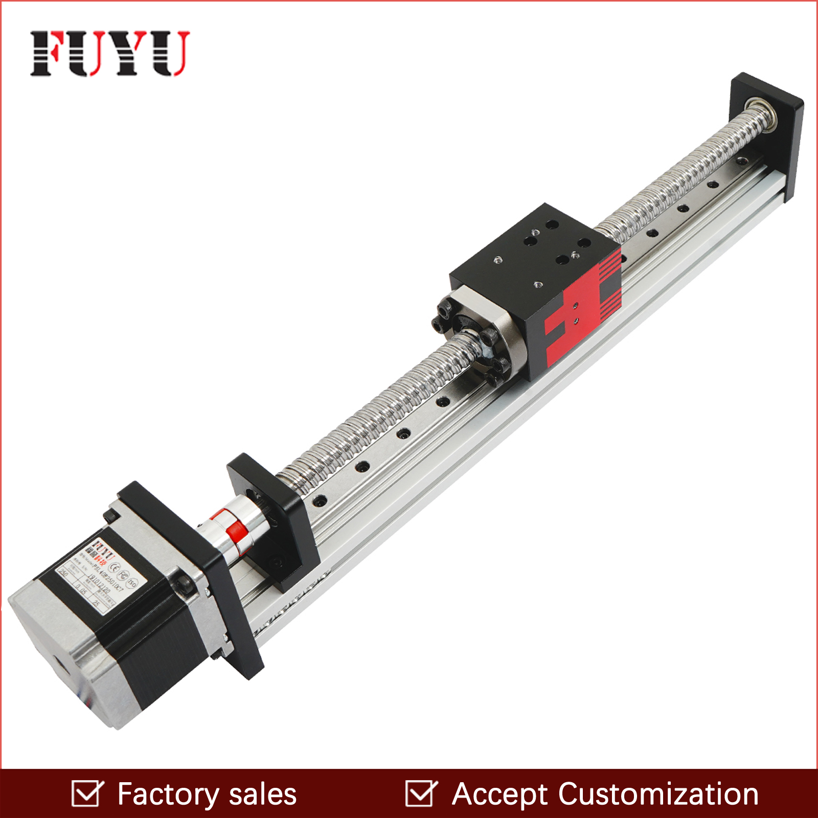 Free shipping FUYU Brand C7 Ball Screw Driven CNC Linear Motion Stage Slide Actuator Guide Rail For 3d Printer Robotic Arm Kit image
