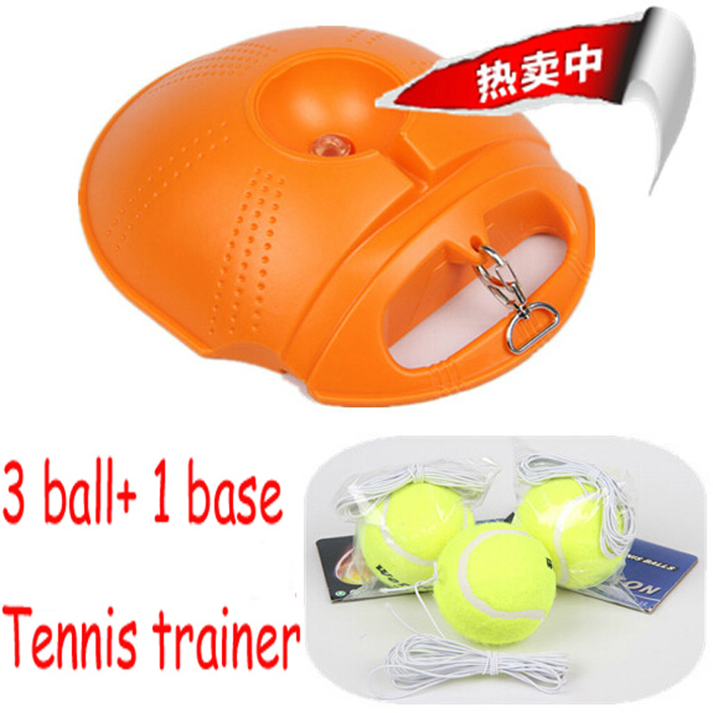 (3 ball and 1 base) NEW Tennis Trainer Practice Single Train Training Ball Tool Partner set for beginner