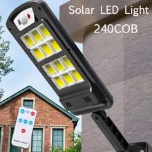 Led-Light Motion-Sensor Street Solar Outdoor Remote-Control-Lamp Garden 240 Waterproof